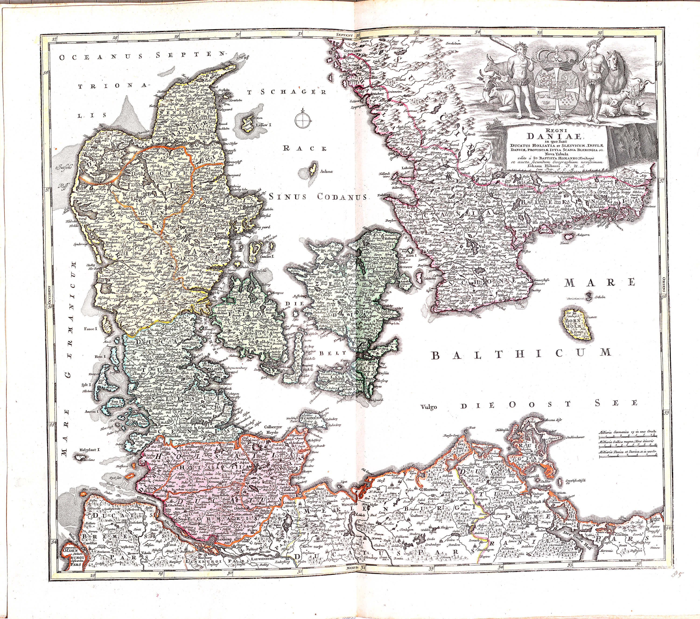 World atlas vol 2 by johannes babtiste homan z 1 9 1702 part 1 z 1 9 32 denmark gumiabroncs Images
