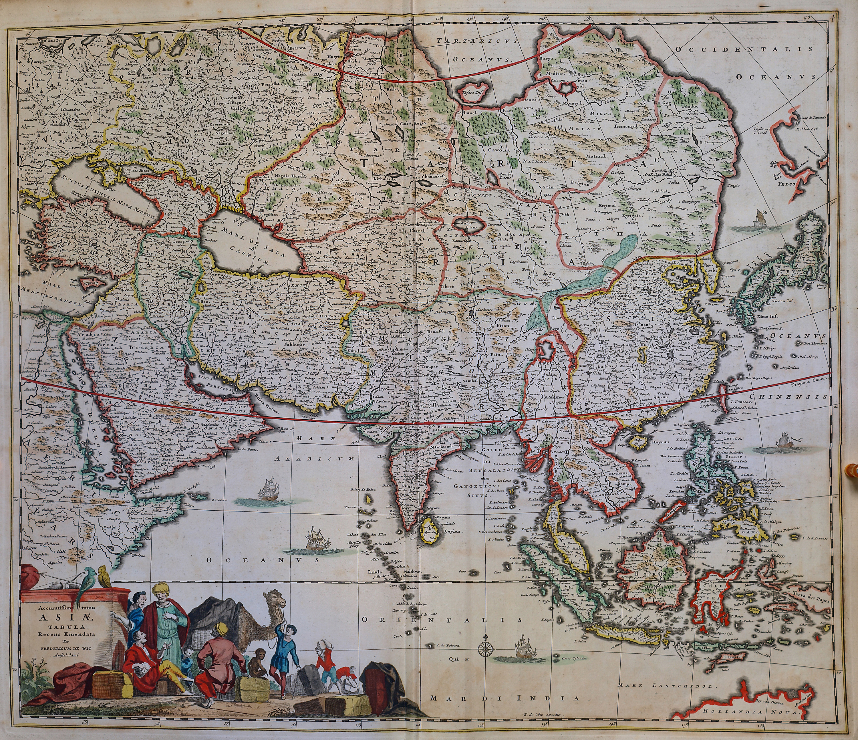 World atlas maior frederik de wit 1670 part 1 a 2 37 l brown a 2 37 003 asia gumiabroncs Images