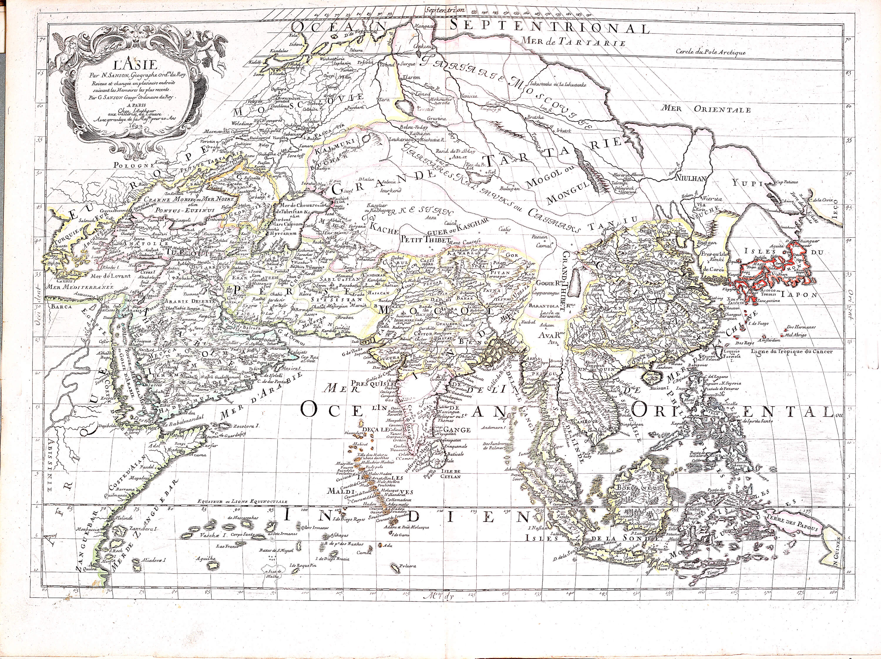 World atlas nicolas sanson 1695 a 3 37 europe france greece roman a 3 37 04 asia gumiabroncs Gallery