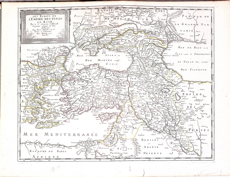 World atlas nicolas sanson 1695 a 3 37 europe france greece roman a 3 37 05 turkish empire gumiabroncs Choice Image