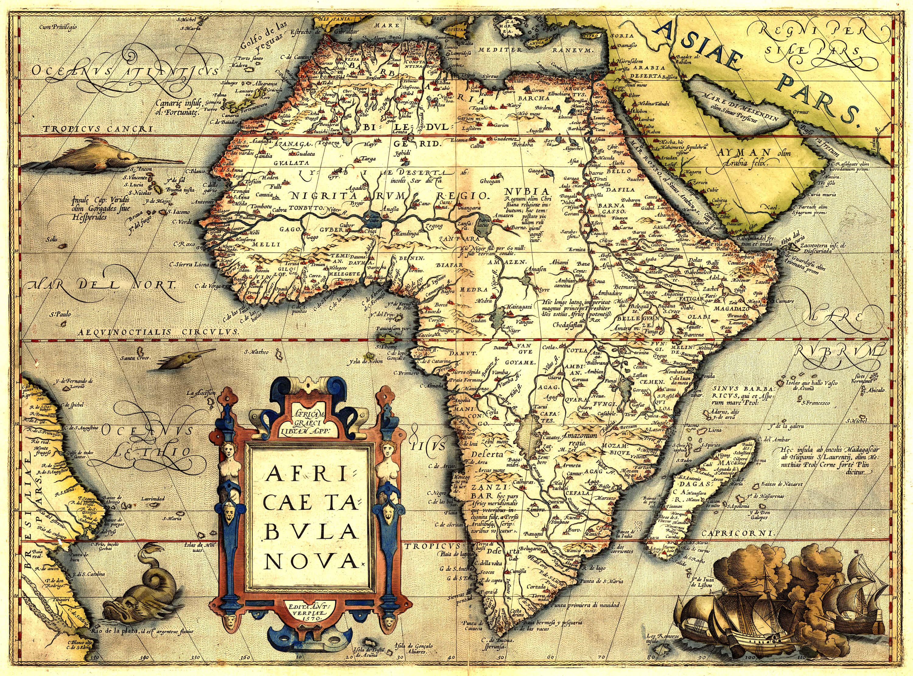 World atlas abraham ortelius 1565 bro 07 l brown collection ort bro 07 004 africa gumiabroncs Choice Image