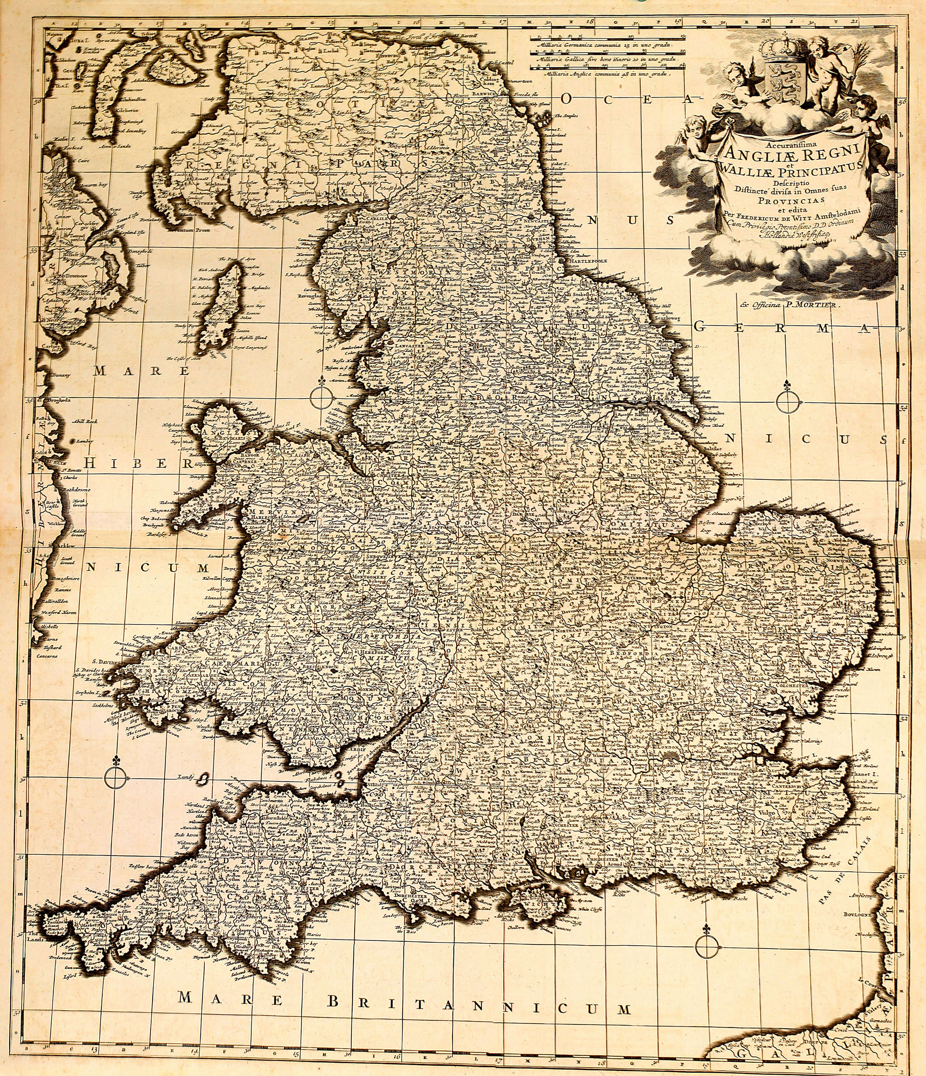 Atlas of england wales mortier 1714 z 1 6 l brown collection z 1 6 01 england gumiabroncs Images