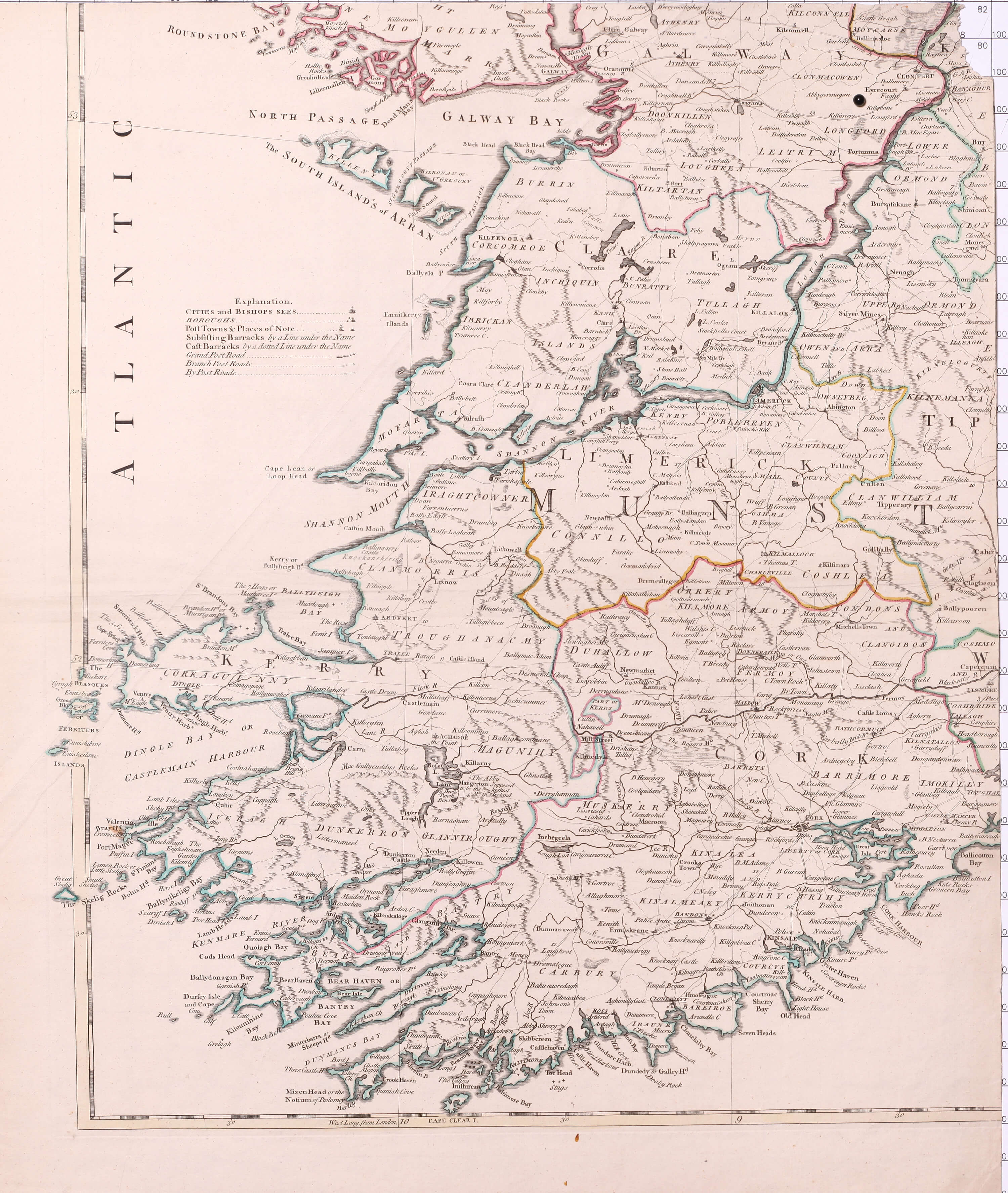 Map Of The West Of Ireland.Maps Of Ireland Part 4 1777 1794 0105 1 0156 L Brown Collection
