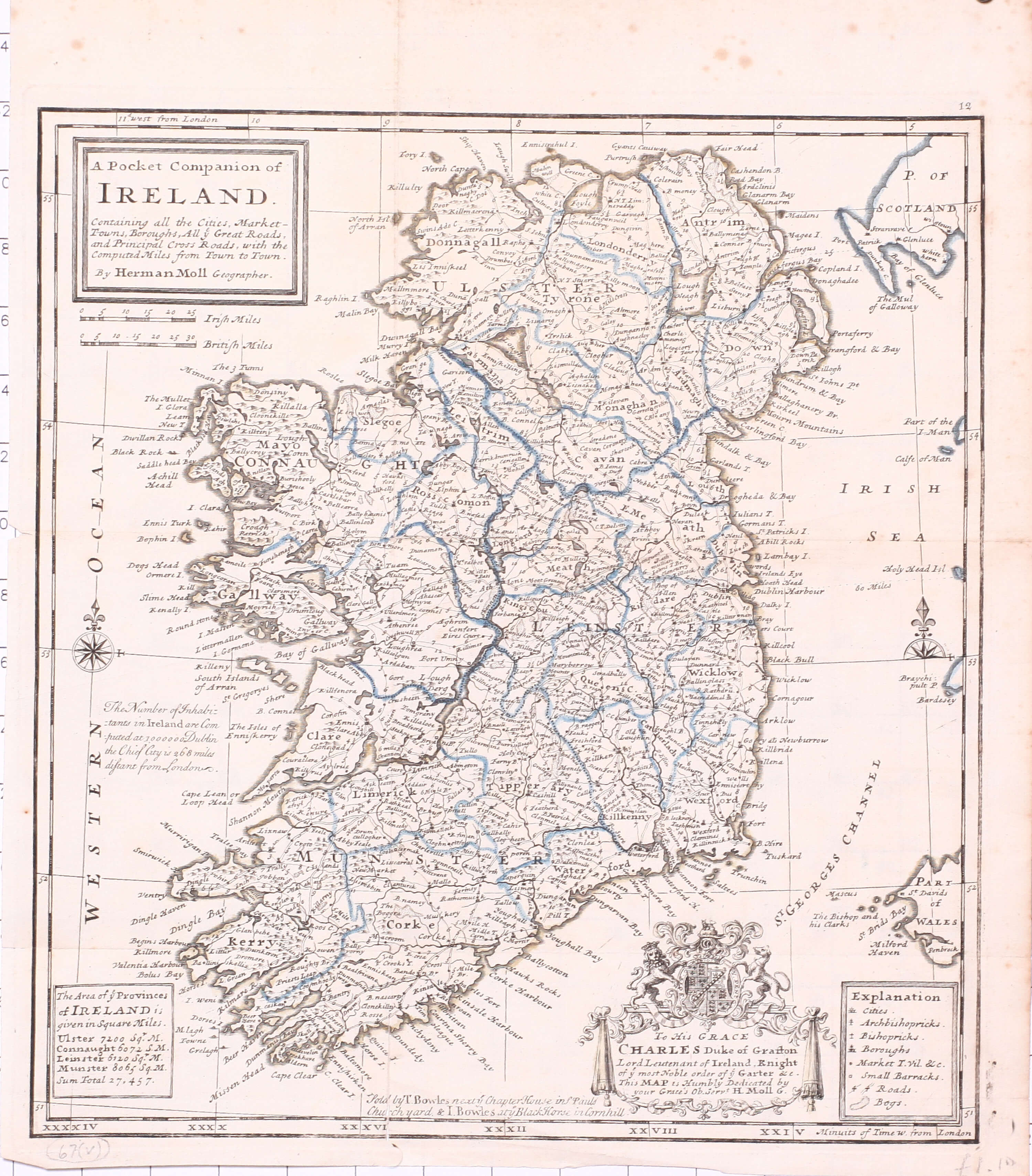 A4 Map Of Ireland.Maps Of Ireland Part 3 1718 1768 067ii 0104 L Brown Collection