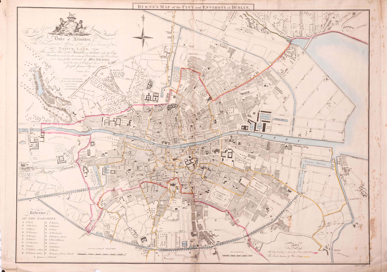 Street Map Of Ireland.Maps Of Ireland Part 9 Dublin 1717 1890 Dg005 I Dg200 L Brown