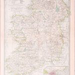 L065 Ireland The Century Atlas 1902