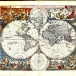1697 World Charts Gerard van Keulan-Z-1-17-003-World( 4 hemispheres)