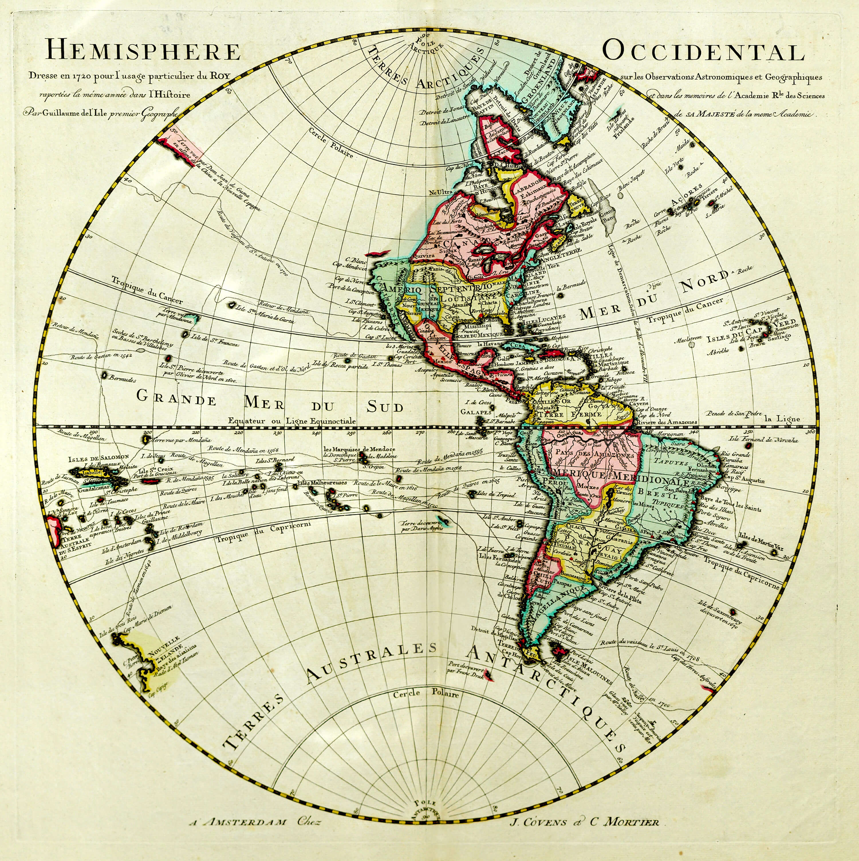 Maps of the whole world 15th to the 19th centuries l brown 1724 world western hemisphere guillaume de gumiabroncs Gallery